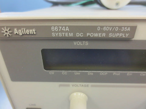 1 Used Agilent 6674A System DC Power Supply 0-60V 0-35A Amp