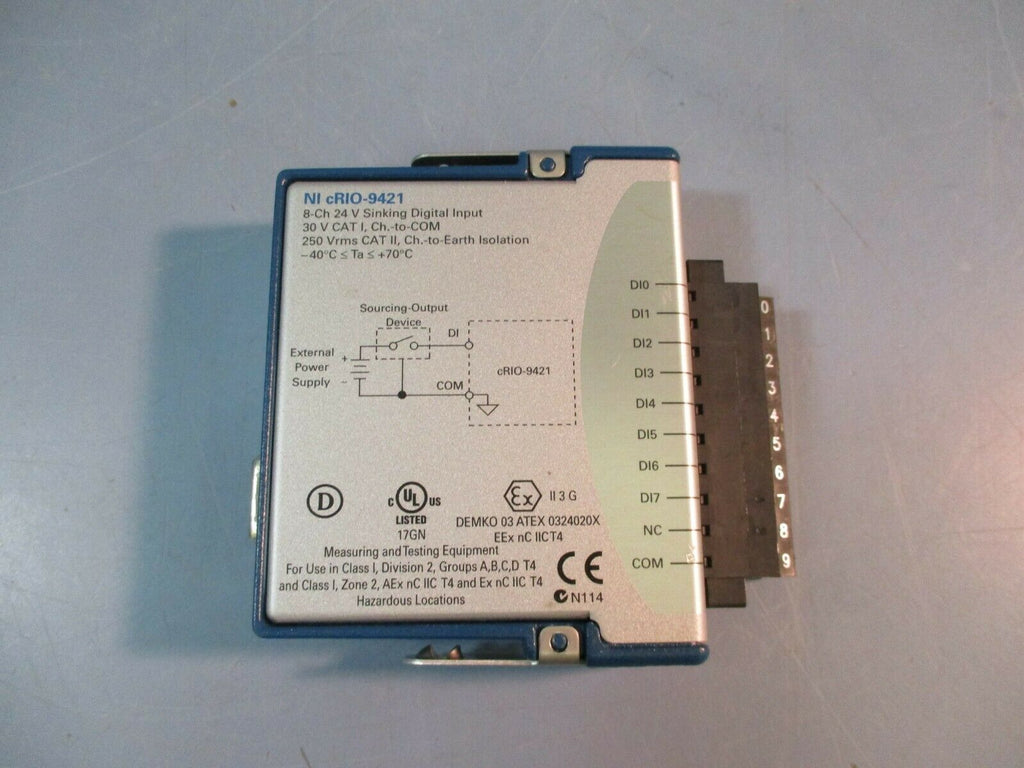 National Instruments 8-CH 24 V Sinking Digital Input NI cRIO-9421