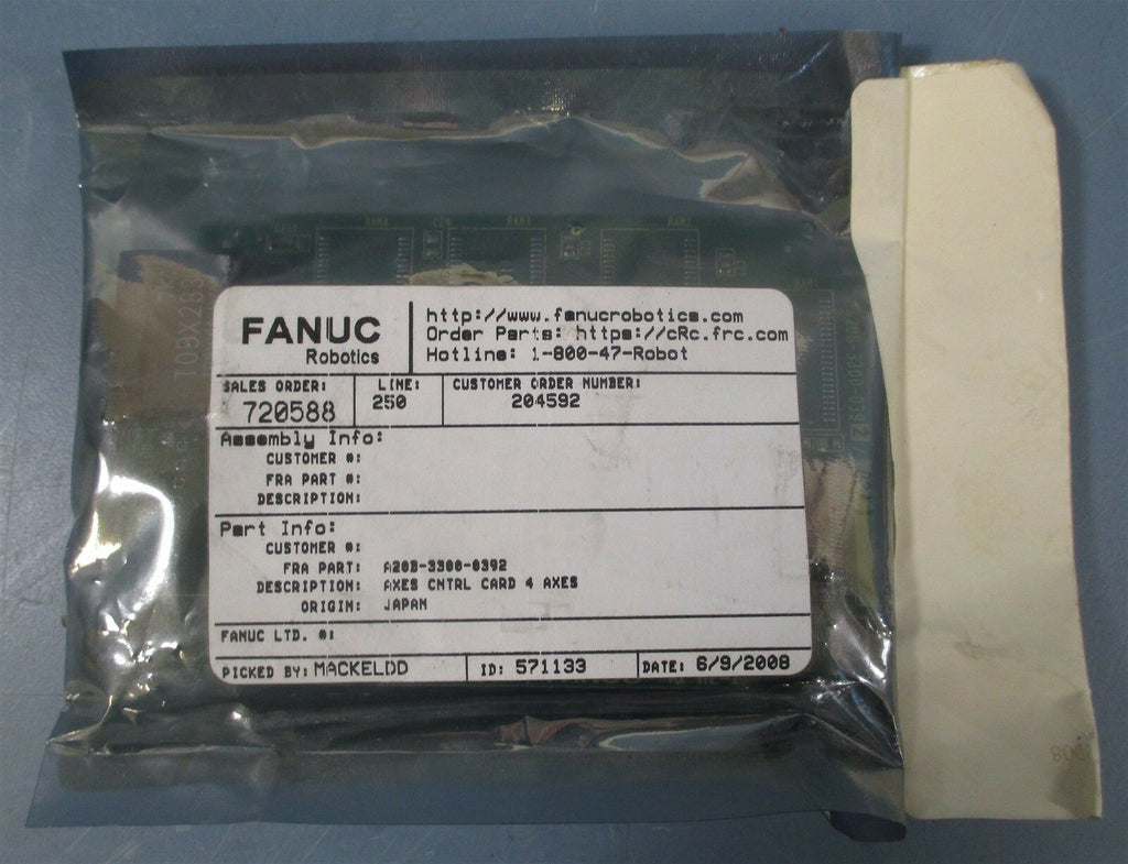 Fanuc A20B-3300-0392 PC 4-AXIS CONTROL CARD