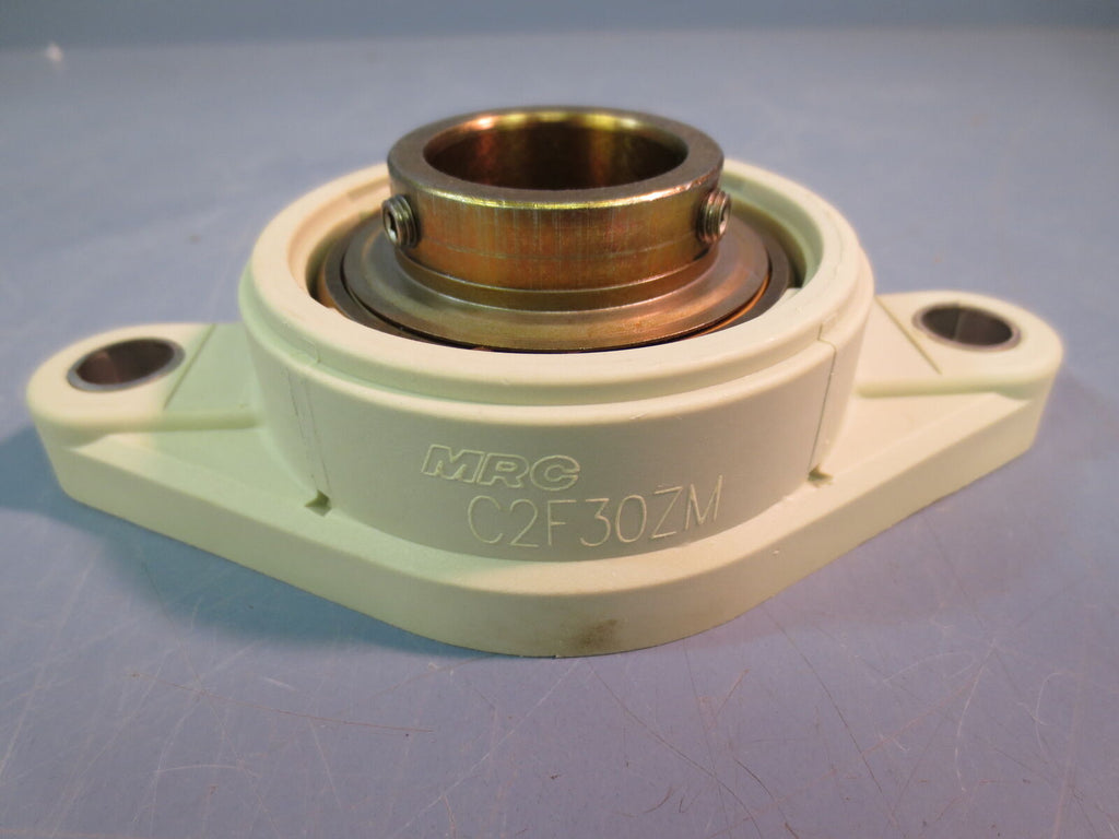 New MRC C2F30ZM 2 Bolt Flange Bearing 30mm Bore Coated Composite
