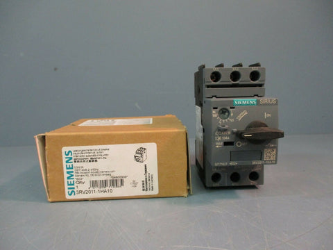 Siemens Motor Protector Circuit Breaker 3RV2011-1HA10 NEW IN BOX