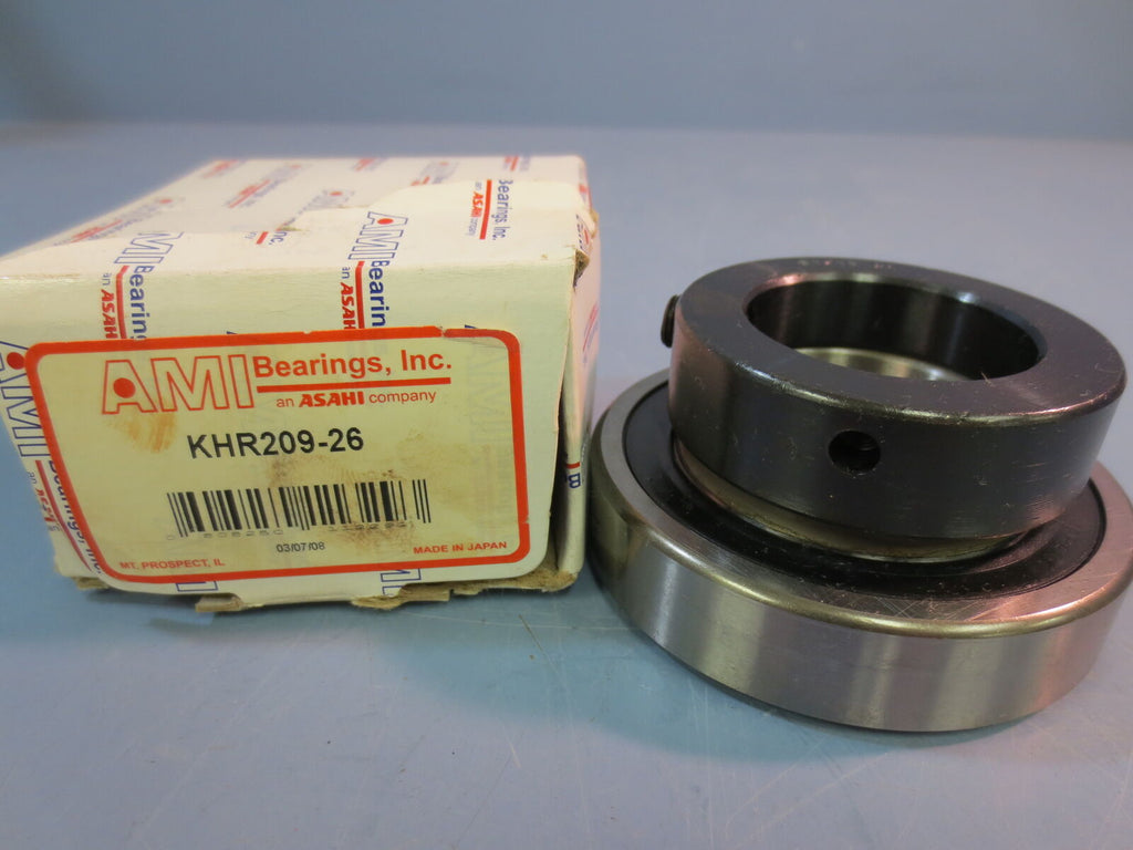 "New AMI Insert Bearing KHR209-26 1-5/8"" Bore"