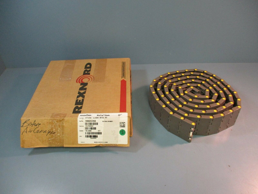 Rexnord MatTop Chain HP5705-3.25IN_MTW_PT 10028393 10 FT NEW