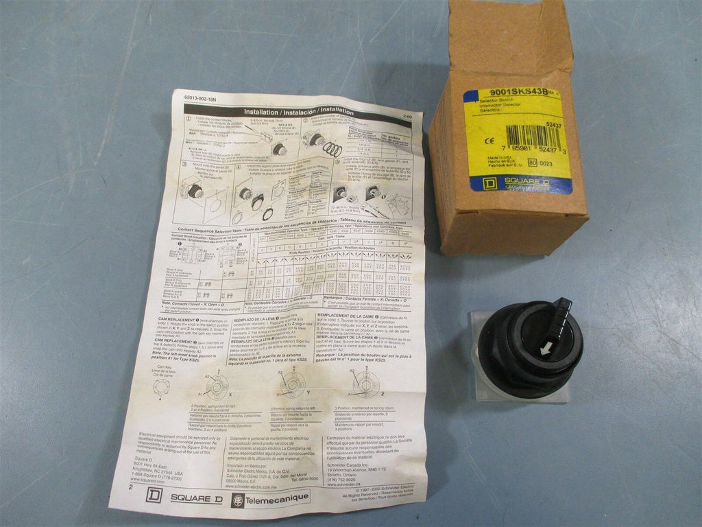 Square D 9001SKS43B Ser. K Selector Switch - New