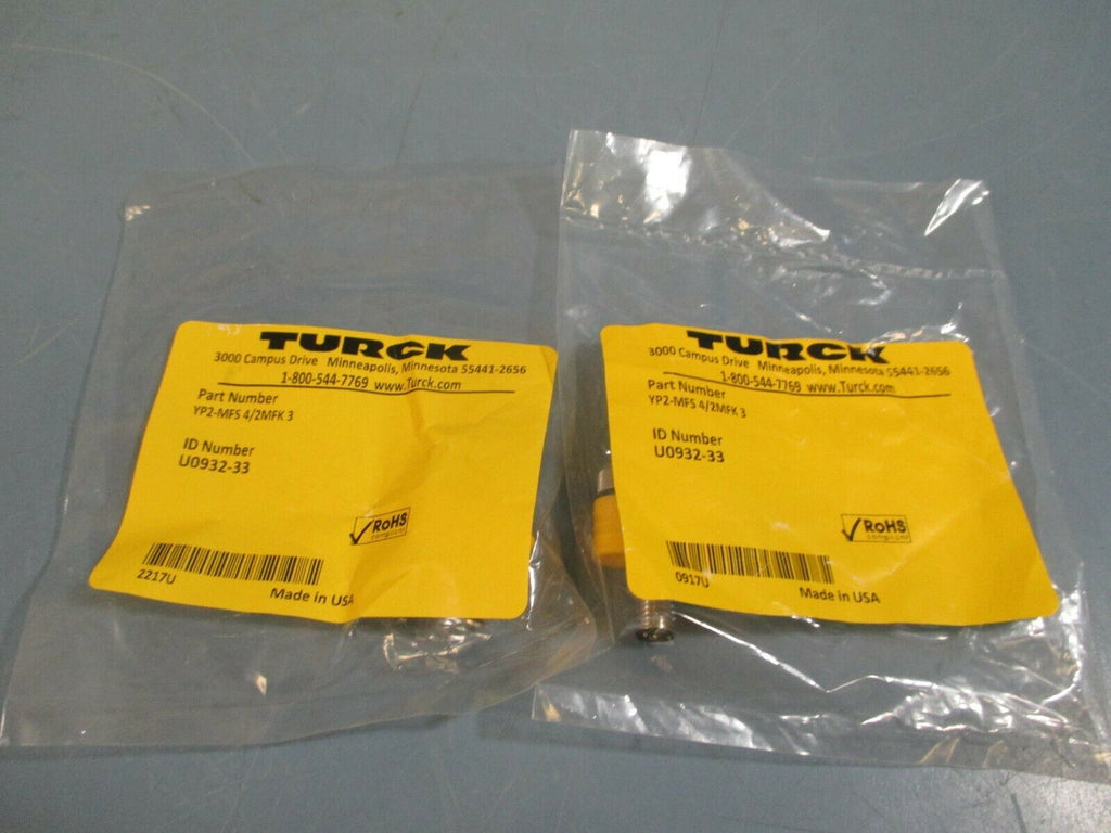 Lot of Two Turck Splitter 2-Branch YP2-MFS4/2MFK3