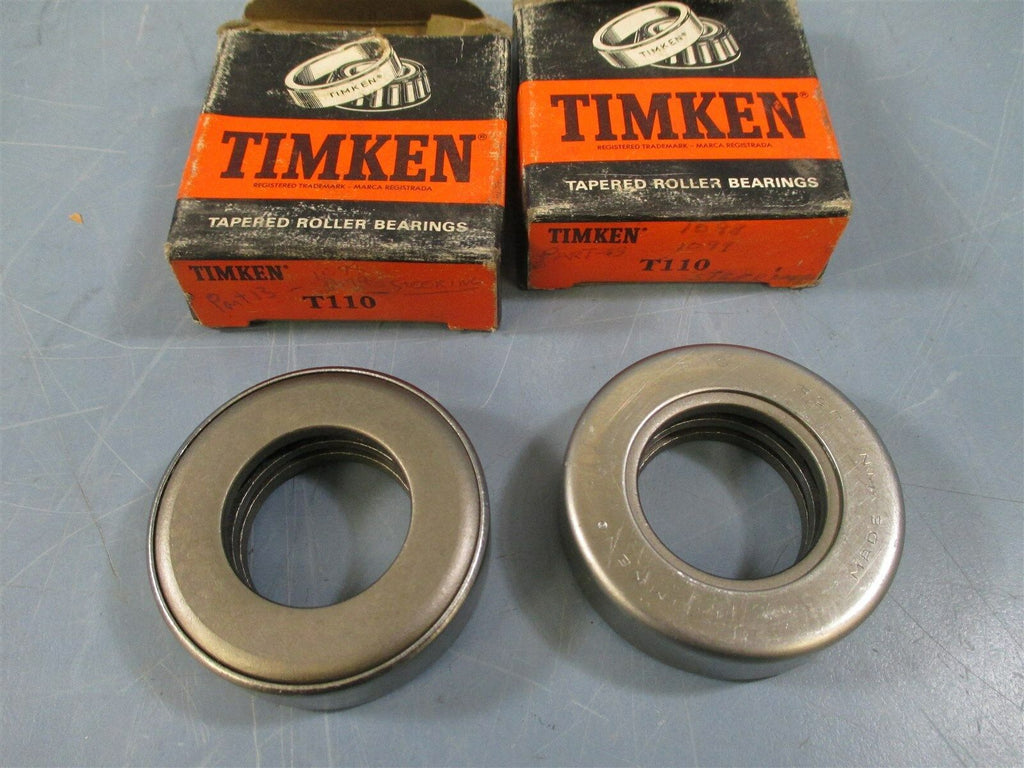 Timken T110 Tapered Roller Bearing Lots of 2 - New