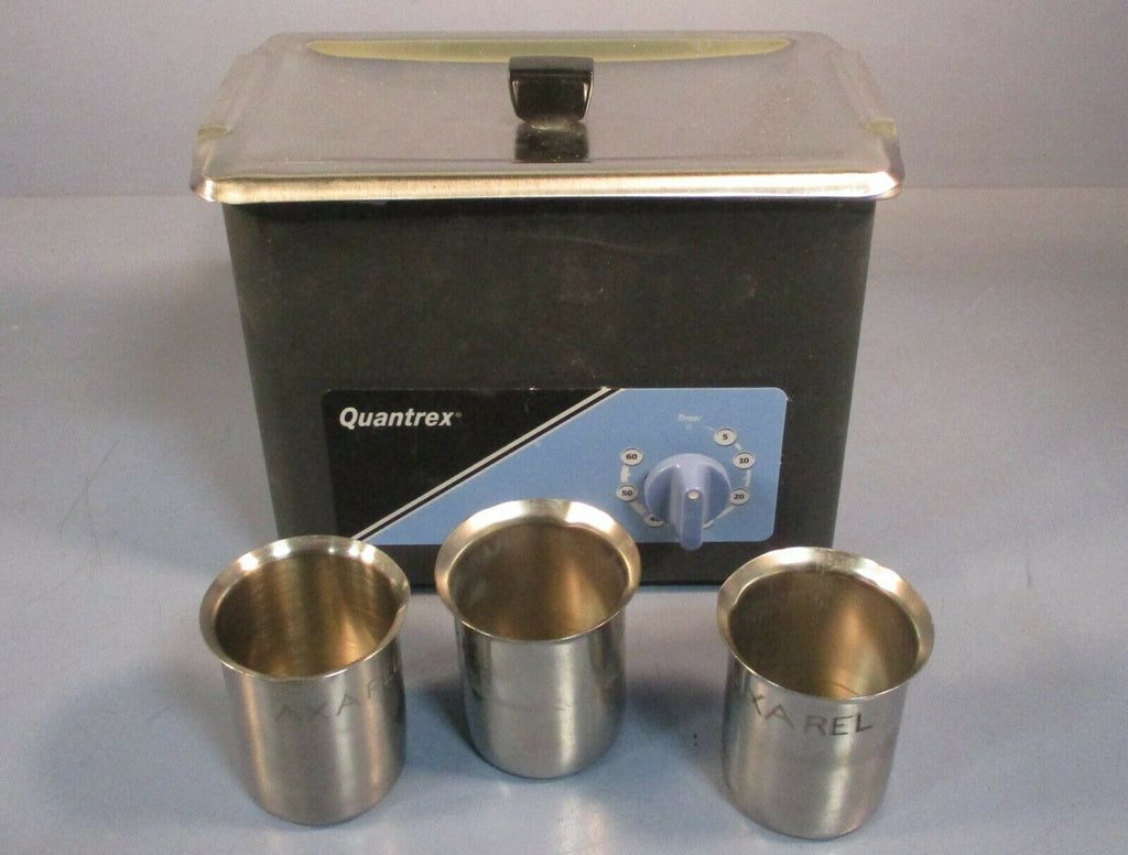 L&R Quantrex Q140 W/T Ultrasonic Cleaner 117 Volt w/ Lid & 3 Stainless Beakers
