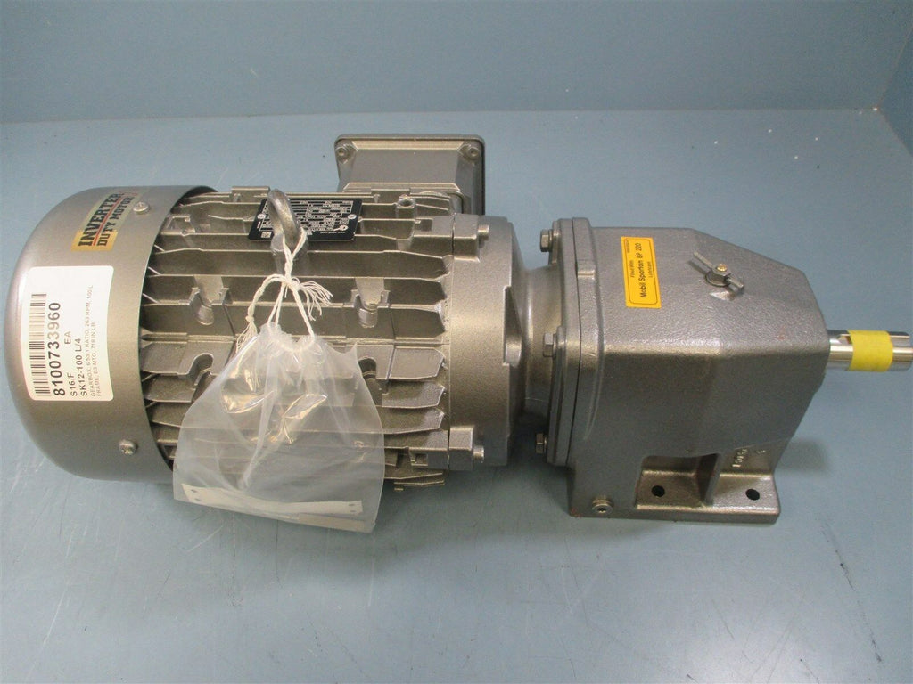 Nord SK12-100L/4CUS 6.53:1 Ratio 263 RPM 3HP Gearbox Motor - New