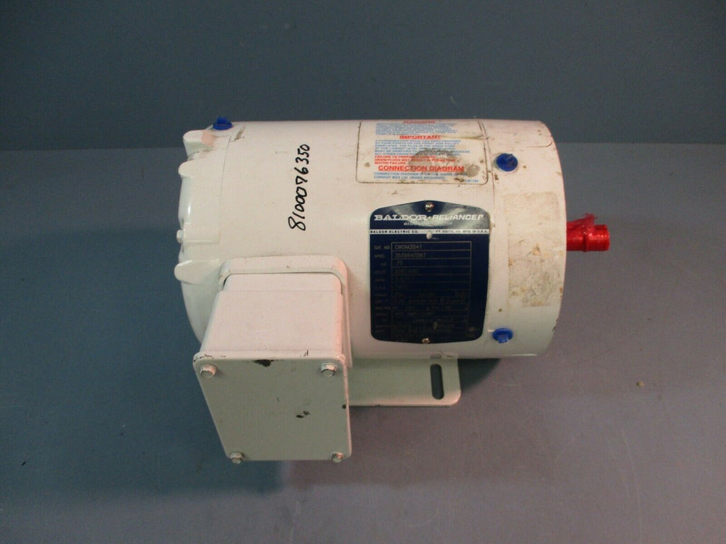 Baldor Washdown Duty Motor CWDM3541 3 Phase HP 3/4 Volts 230/460 Amp 2.2/1.1