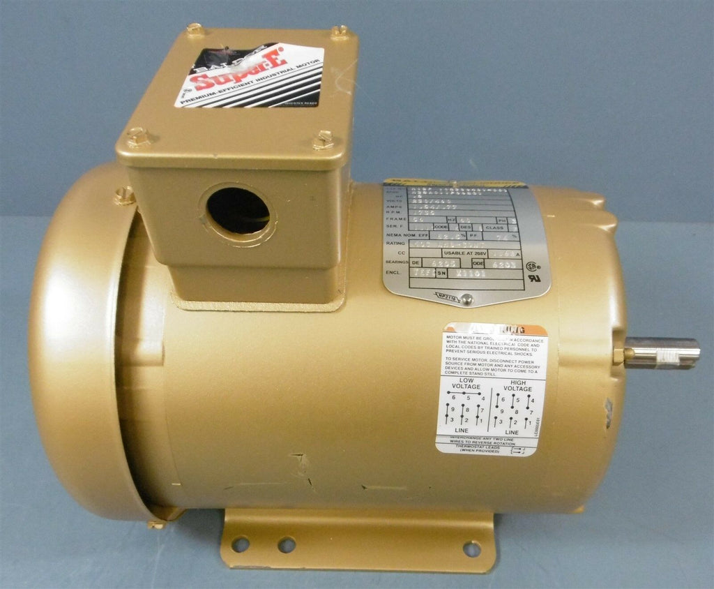 Baldor Super-E Electric Motor: M13F 102386481-001,0.5 HP, 230/460 Volt, 1735 RPM