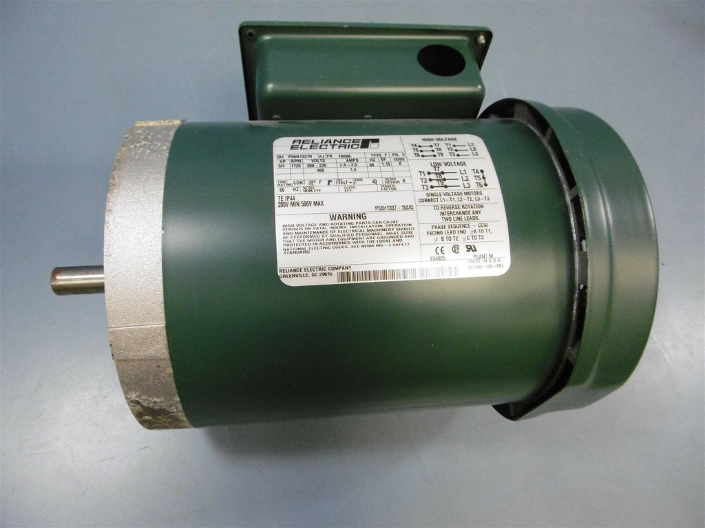 Used Reliance Electric P56H1337H High 1725RPM  3 Phase Type P 3/4 HP