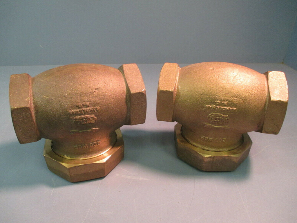 "UNITED RANDLEMAN BRASS CHECK VALVE 2"" STRAIGHT 200 WSP"