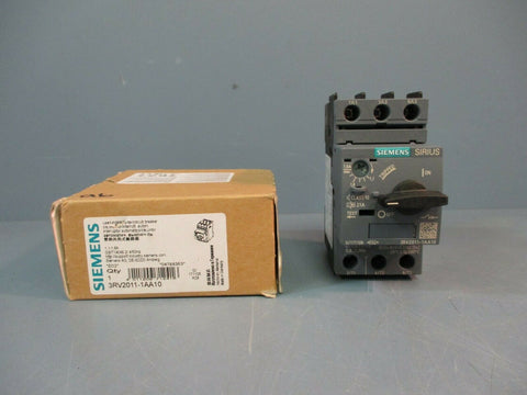 Siemens Motor Starter Circuit Breaker 3RV2011-1AA10 NEW IN BOX