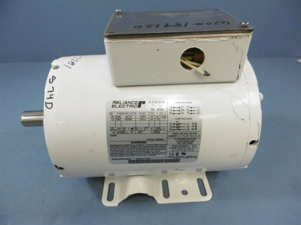 Reliance Electric EZ Kleen Plus TE IP55 P14X4817M 1.5 HP 3450RPM 60HZ 230/460V