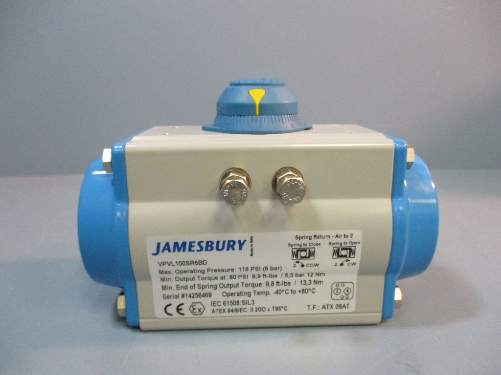 Jamesbury Pneumatic Valve Actuator VPVL100SR6BD NEW