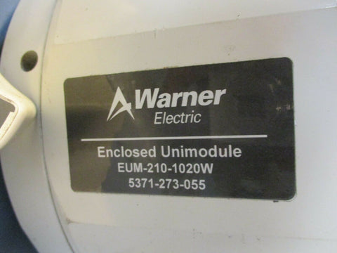 Warner Electric EUM-210-1020W Clutch Brake 3600  RPM, 90 V, 5371-273-055 Used