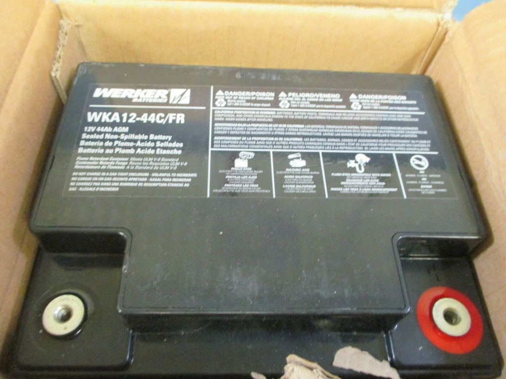Werker Batteries Sealed Non-Spillable Rechargable Battery 12V 44Ah WKA12-44C/FR
