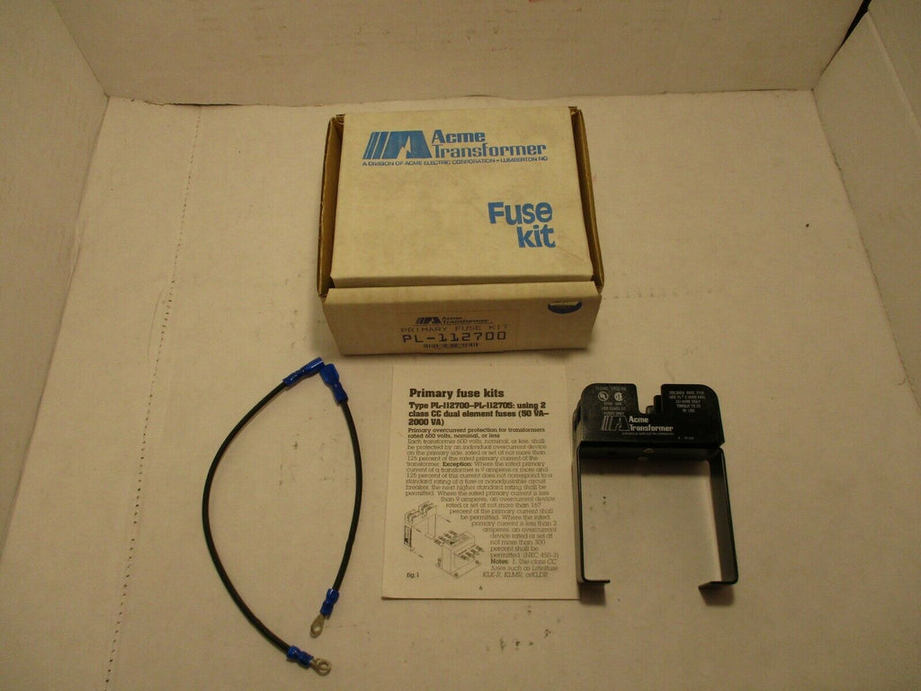 ACME Transformer Primary Fuse Kit  PL-112700 NEW IN BOX LOT OF 2