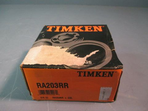 Timken Wide Inner Ring Ball Bearing with Eccentric Collar RA203RR+COL