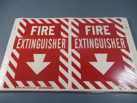 *Packs of 10* Brady Fire Extinguisher Signs 96908 - New
