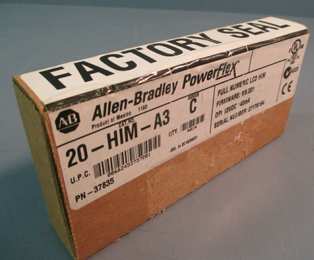 ALLEN BRADLEY POWERFLEX MODULE NUMERIC KEYPAD LCD 20-HIM-A3 SER.C FACTORY SEALED