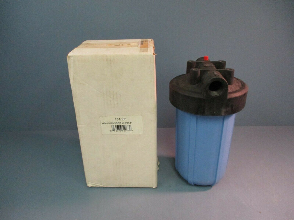 "Pentak Big Blue Whole House Filter Housing 151083 HD-10-R50-BBS w/PR, 1"" NEW"