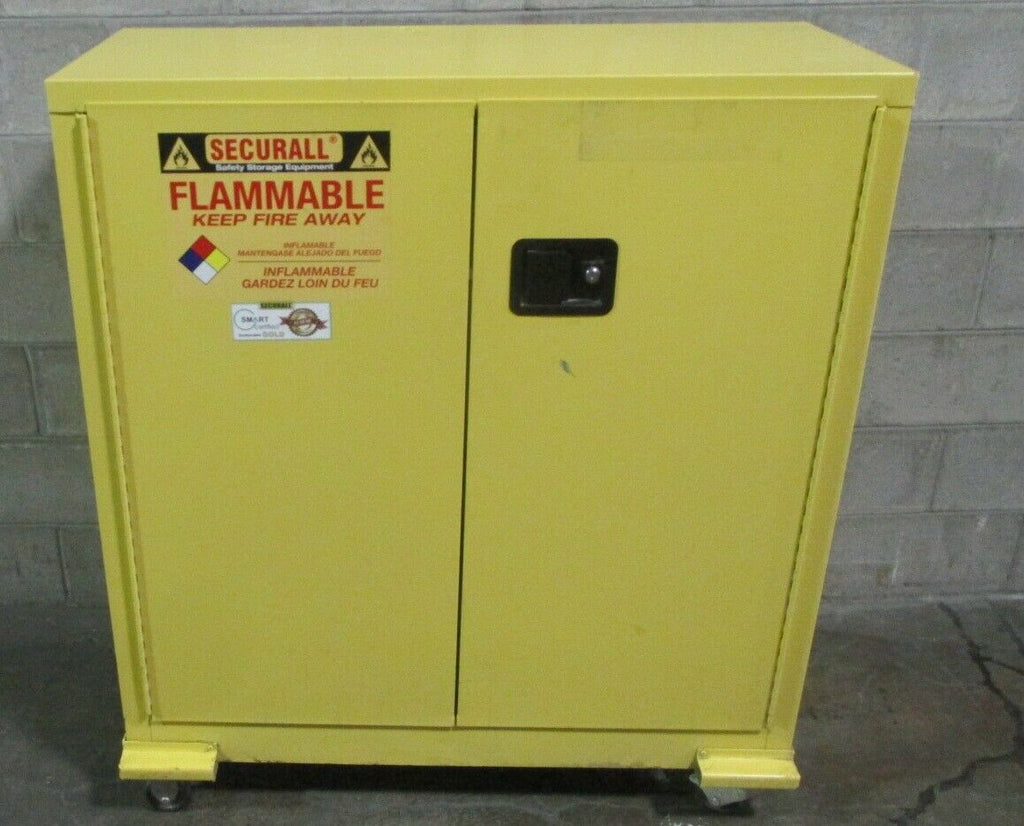 "Securall A130 30 Gallon Flammable Cabinet 44 x 43 x 18"" Cabinet Dims No Keys"