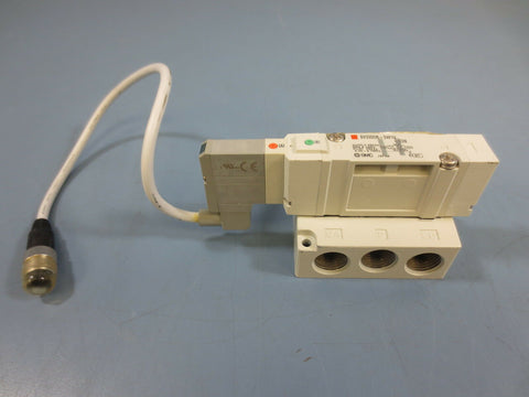 1 New SMC SV3200R-5W1U 5 Way Solenoid Valve 24V Vdc