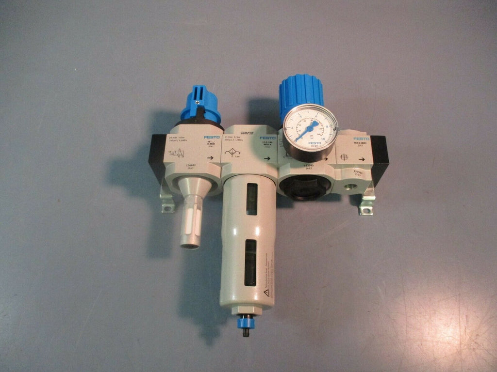 Festo Pneumatic Filter Regulator Valve Assembly HE-…-D-MIDI LF-D-5M-MIDI-A &MORE