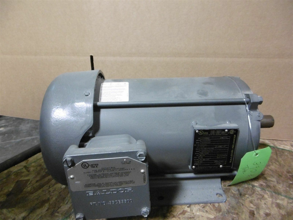 New Baldor Explosion Proof Motor EM7072T 3 Phase 3-5HP 3450 - 2900 RPM