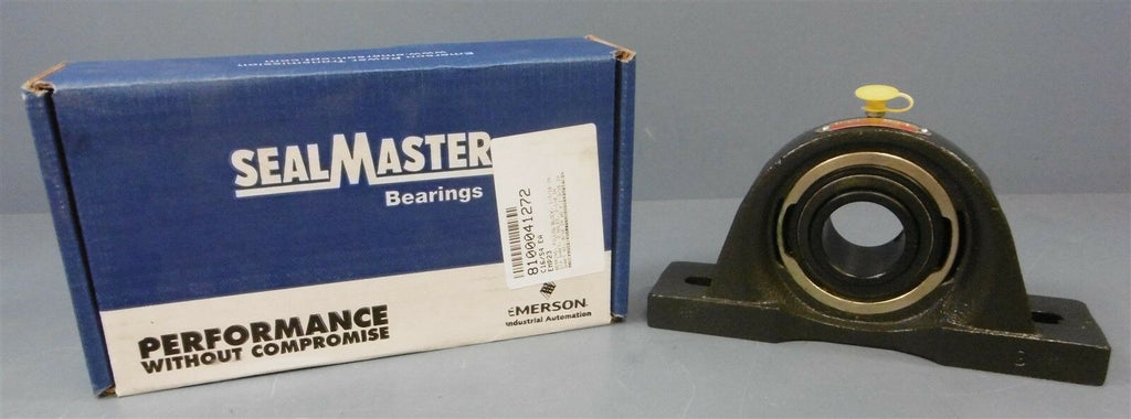 "SealMaster Pillow Block Bearing: EMP-23, 1-7/16"" Dia Shaft, 2 Bolt"