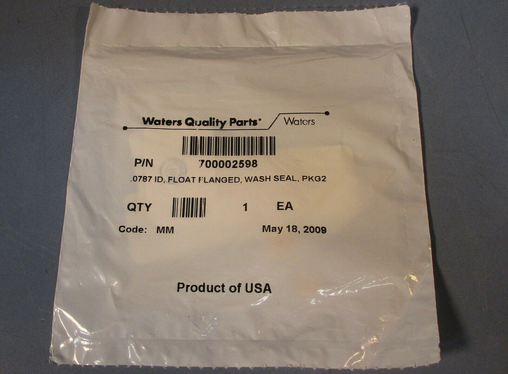 Waters Quality parts 700002598 0.0787 ID, Float Flanged, Wash Seal 2 Pack New