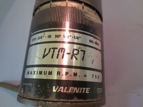 Used VALENITE VTM-R7 Tapmatic Tapping Head M5-M16 NP 1/8-1/4""