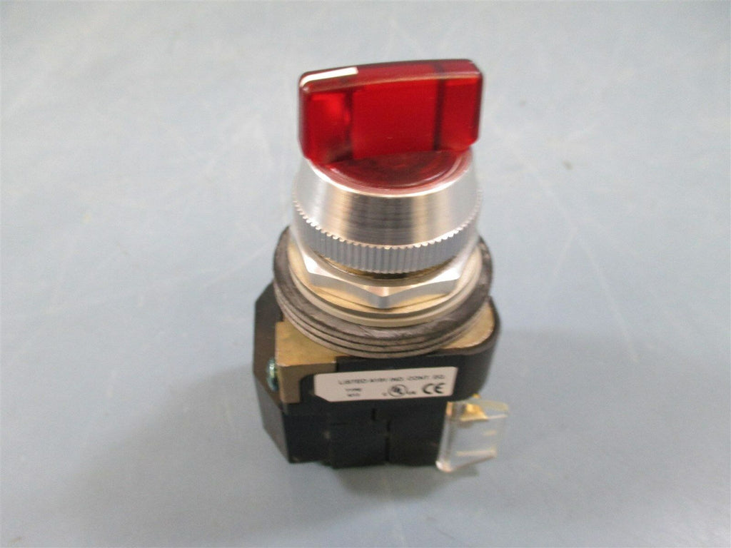 Allen Bradley 800T-16JR4KB7AX Ser. U Red 3 Position Switch - New