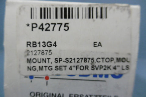 *NEW* Sudmo SP-S2127875: MOUNTING SET FOR 4 IN SVP2K STAINLESS D403238