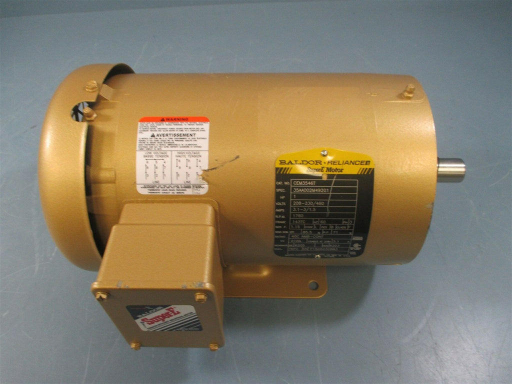 Baldor CEM3546T 1 HP 1760 RPM 460 Volts Electric Motor - New