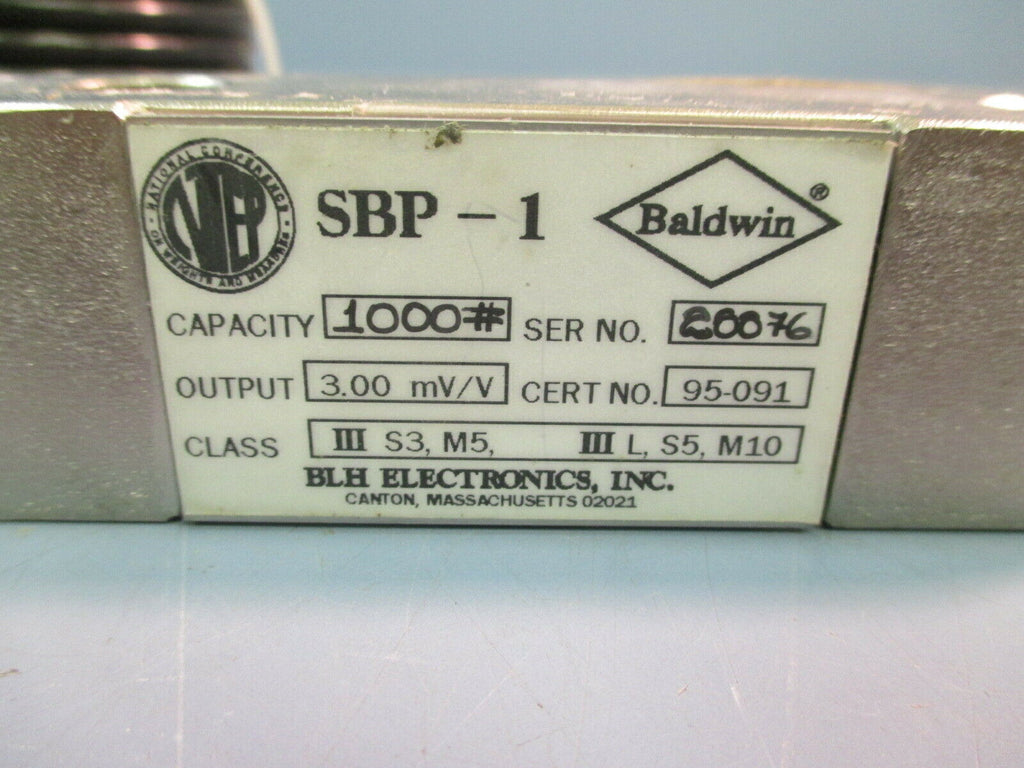 BALDWIN LOAD CELL SBP-1 1000 lb Capacity