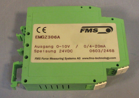 FMS EM GZ306A Tension Meter Measuring Amplifier EMGZ306A 24VDC Used