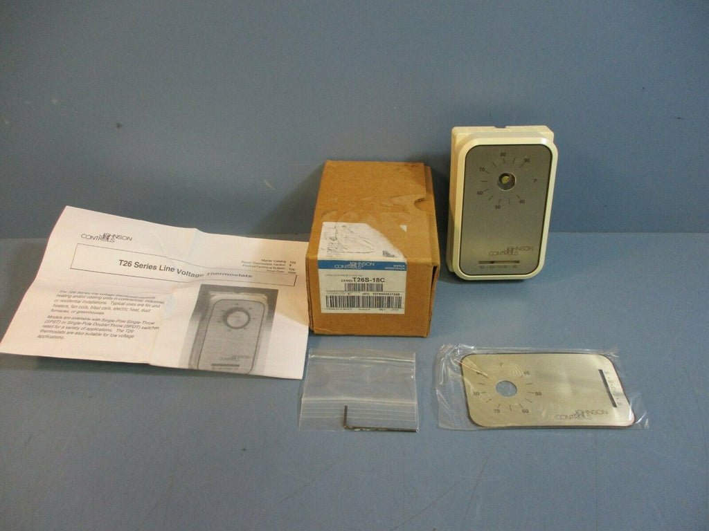 Johsnon Controls T26S-18C Line Volt Thermostats T26 Series NEW
