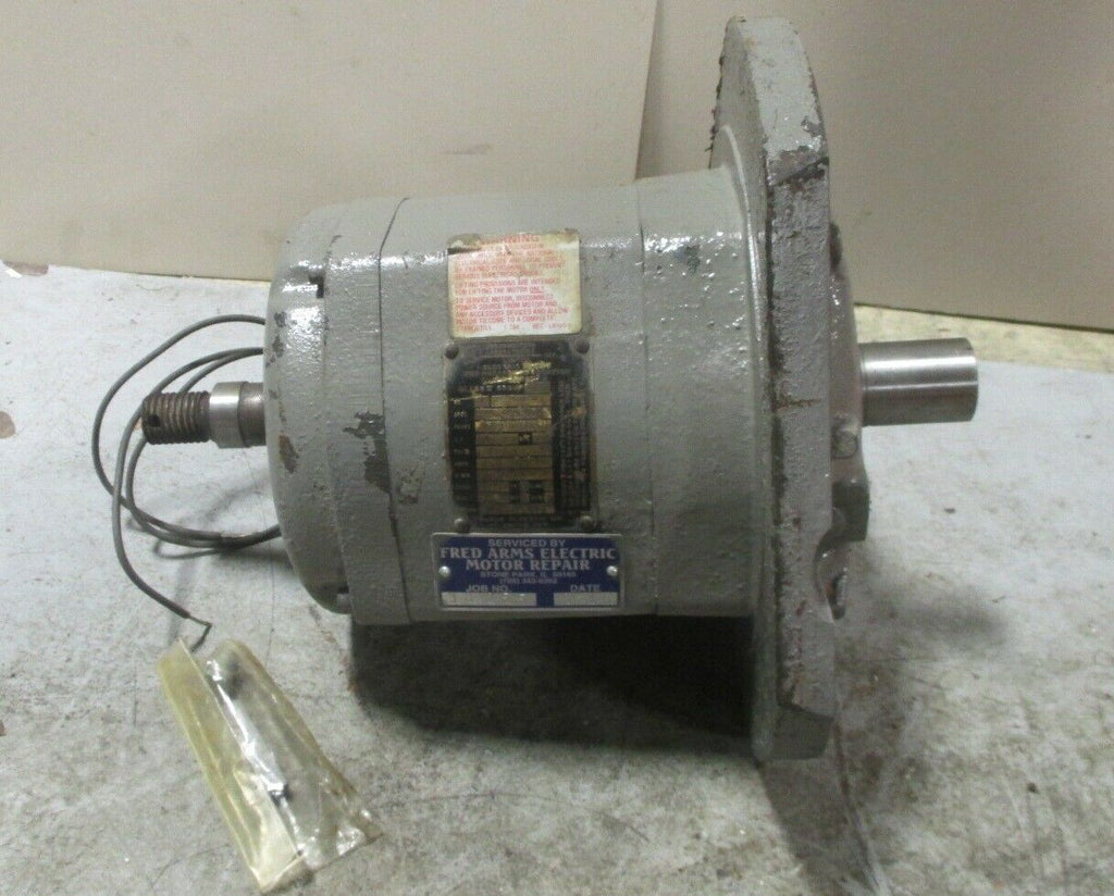 Baldor 32-659-960 Electric Motor 1/2 HP, 1140 RPM, 3 Ph 460 Volts Used