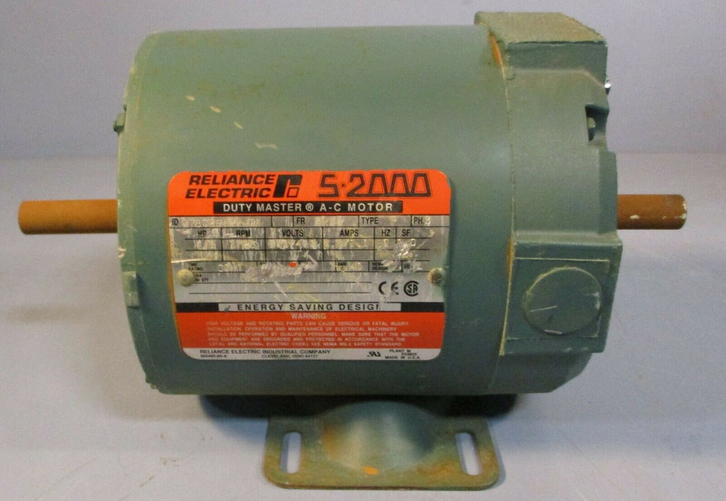Reliance Electric B78Q2672R-CA AC Motor S2000 1/2 HP 3 Phase, 1725 RPM NOS