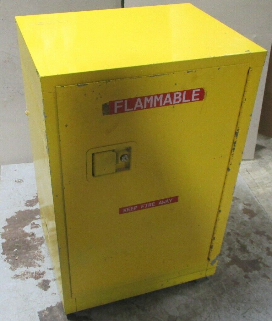 "Unknown Brand 12 Gallon Flammable Cabinet 36 x 24 x 18""  No Keys Used"