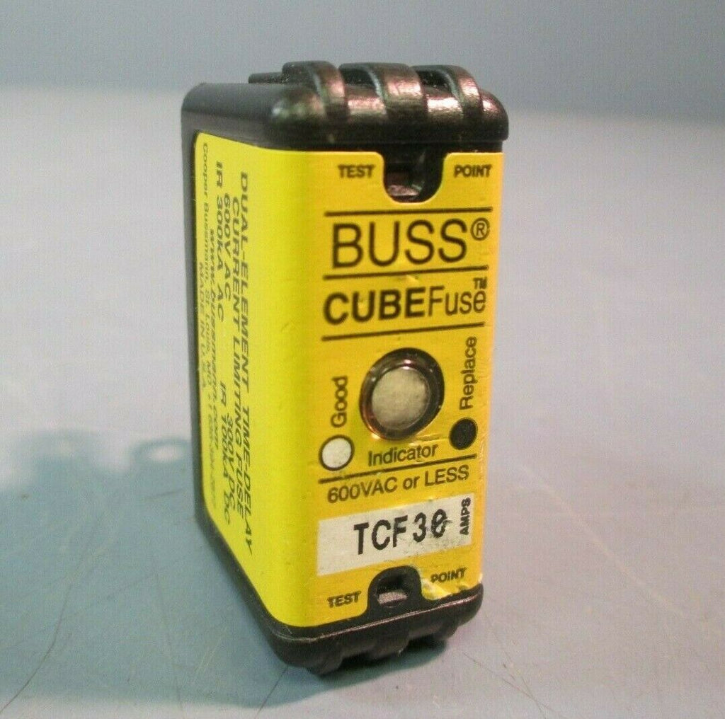Buss Cube Fuse Dual-Element Time Delay Current Limiting Fuse 600V AC TCF30