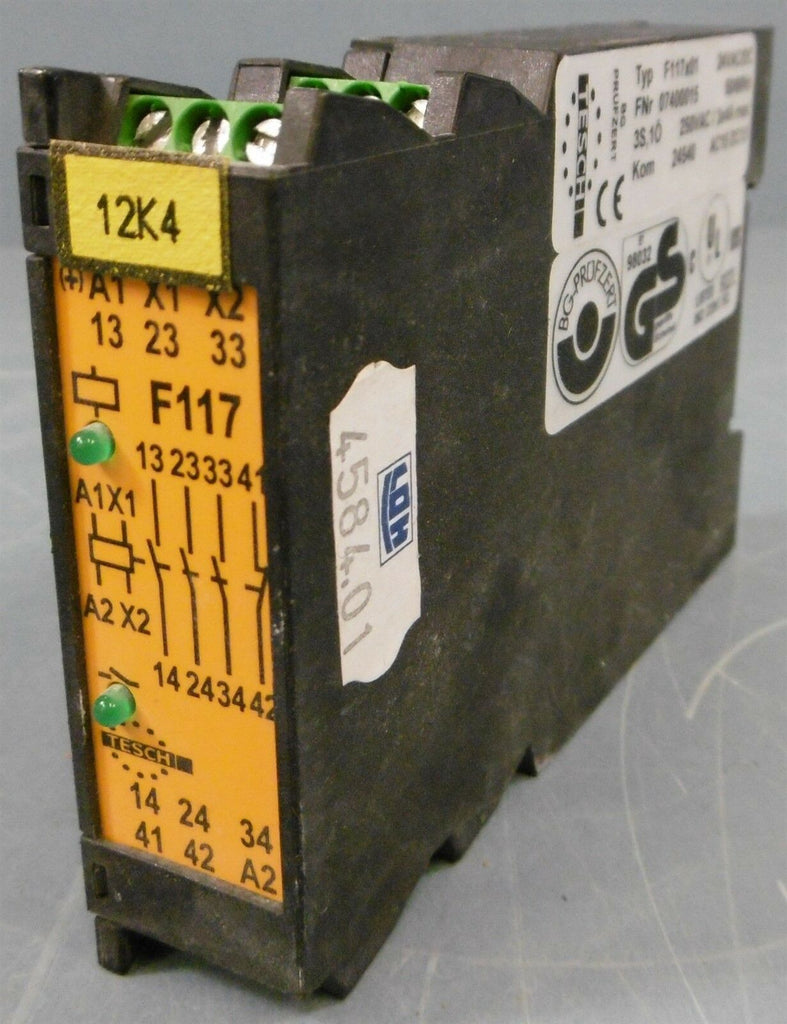 Tesch F117x01 07400015 Safety Relay 24VAC/DC Kom 24540