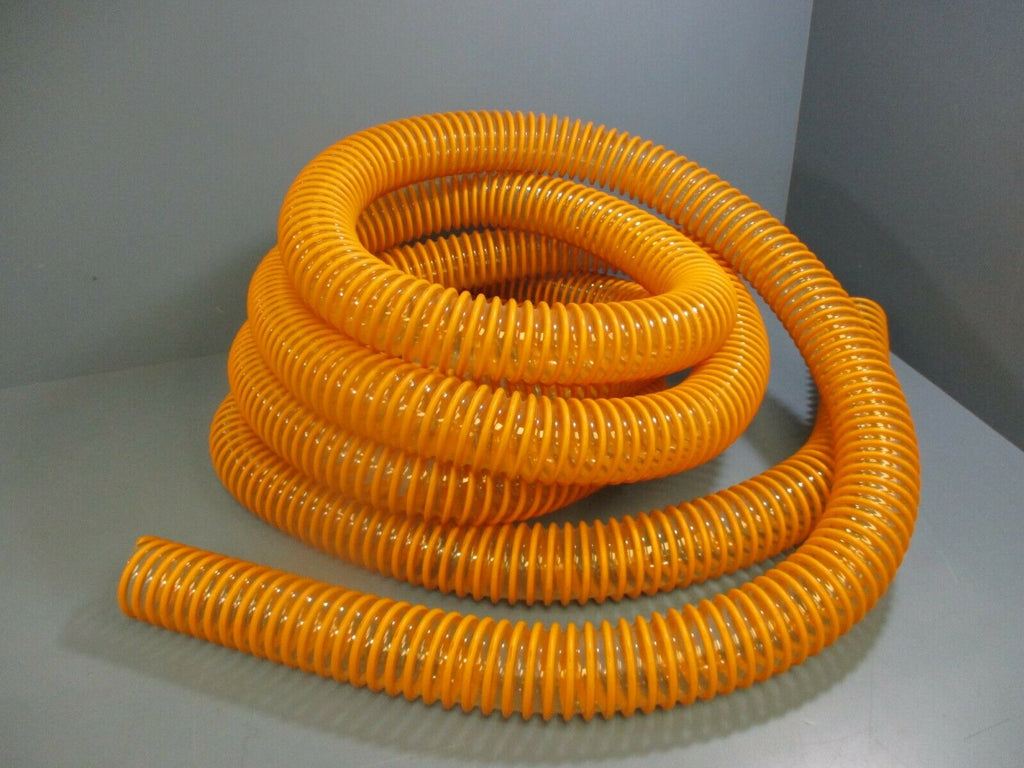 Silicone Ducting Hose 2in ID x 20ft LG Yellow Ribbed Clear Used
