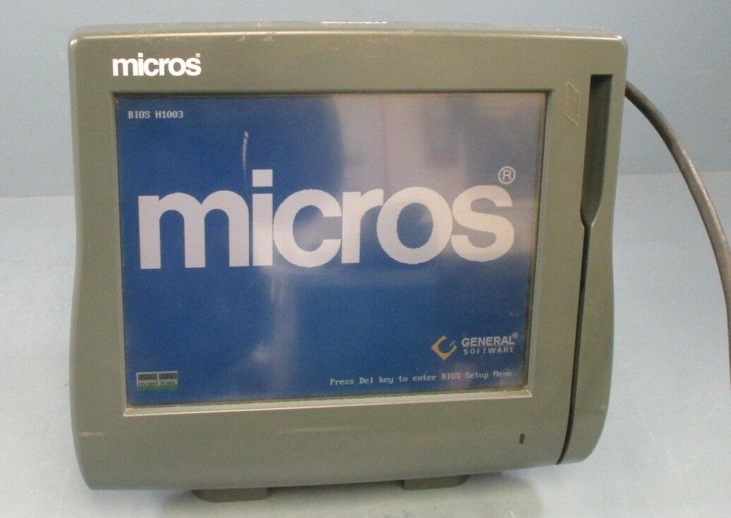 "Micros Workstation 4 LX POS System Unit 400714-001 12.1"" Touchscreen Used"