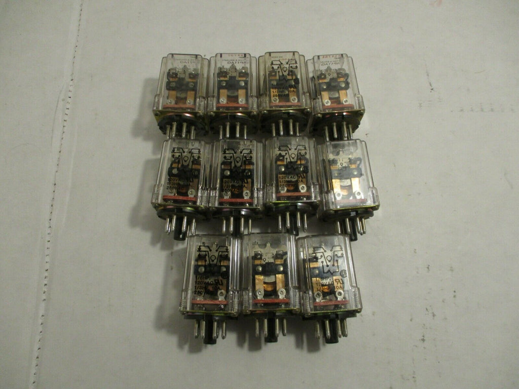 Potter & Brumfield 8 Pin Relay KRP11AG LOT OF 11