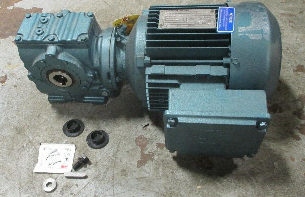 Sew Eurodrive DFT90L4 2 HP, 3 Ph Gear Motor SA47DFT90L4 44.22 Ratio, 39 RPM Out