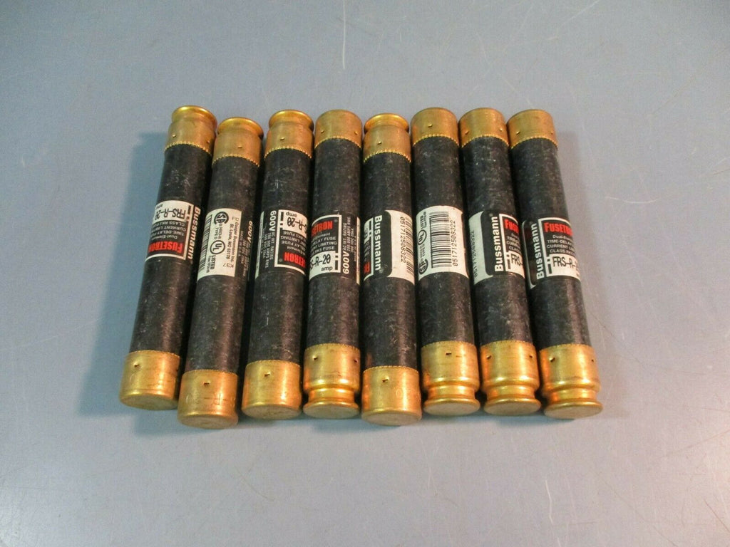 Bussmann Fusetrin Time Delay Fuse 20 AMP 600 Volt NEW LOT OF 8