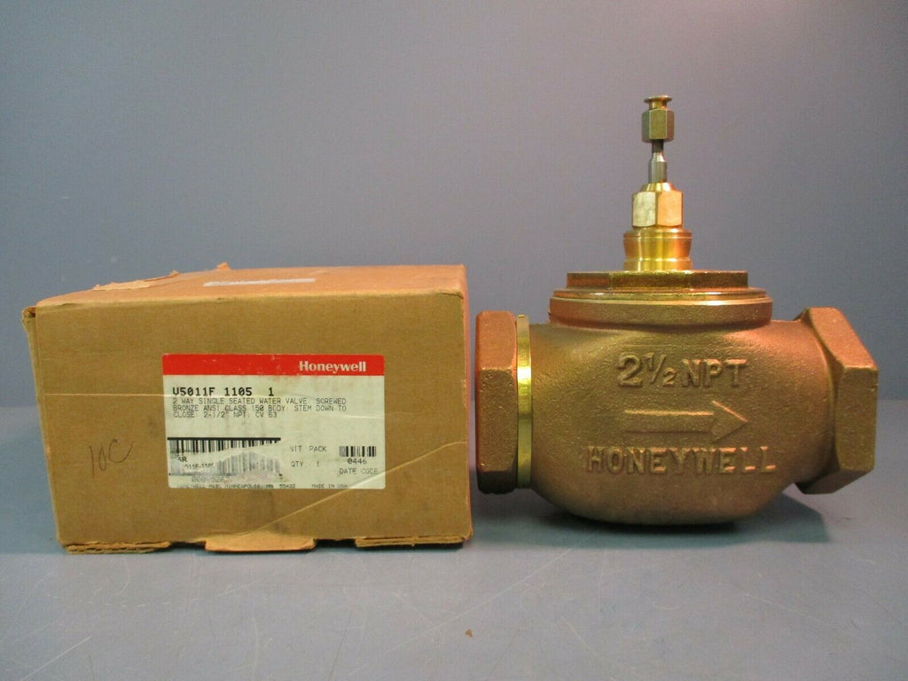 Honeywell 2 Way Single Seated Water Valve VS011F-1105-1 2½ NPT NEW